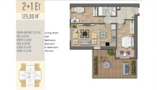 Quality Apartments Beside the E-5 Highway in Istanbul, Property Plans-17