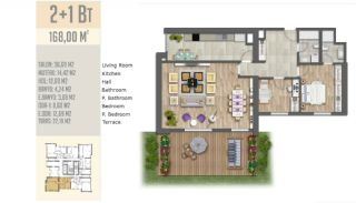 Quality Apartments Beside the E-5 Highway in Istanbul, Property Plans-21