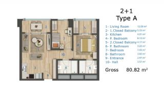 Cozy and Luxury Apartments on TEM Highway in Istanbul, Property Plans-1