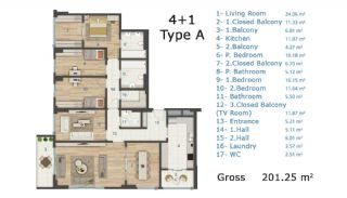 Cozy and Luxury Apartments on TEM Highway in Istanbul, Property Plans-6