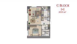 آپارتمانهایی در مرکز استانبول با امکانات جامع, پلان ملک-3