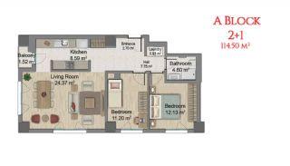 آپارتمانهایی در مرکز استانبول با امکانات جامع, پلان ملک-4