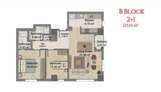 آپارتمانهایی در مرکز استانبول با امکانات جامع, پلان ملک-5