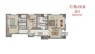 آپارتمانهایی در مرکز استانبول با امکانات جامع, پلان ملک-6