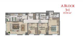 آپارتمانهایی در مرکز استانبول با امکانات جامع, پلان ملک-7