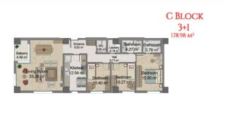 آپارتمانهایی در مرکز استانبول با امکانات جامع, پلان ملک-9