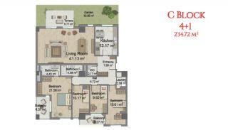 آپارتمانهایی در مرکز استانبول با امکانات جامع, پلان ملک-12