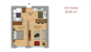 Istanbul Flats Designed as Home-Office on Basın Express Way, Property Plans-1