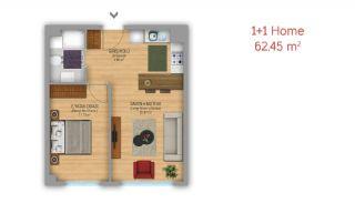 آپارتمان طراحی شده در استانبول به عنوان دفتر کاری, پلان ملک-1