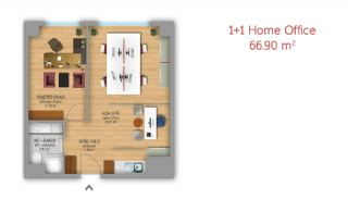 Istanbul Flats Designed as Home-Office on Basın Express Way, Property Plans-2