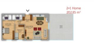 آپارتمان طراحی شده در استانبول به عنوان دفتر کاری, پلان ملک-3
