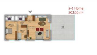 Istanbul Lägenheter Designad som Hem-Kontor på Basın Express Sätt, Planritningar-4
