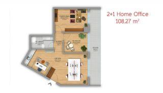 Istanbul Lägenheter Designad som Hem-Kontor på Basın Express Sätt, Planritningar-5