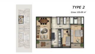 Centrala Lägenheter med Utsikt Över Havet i Istanbul, Planritningar-1