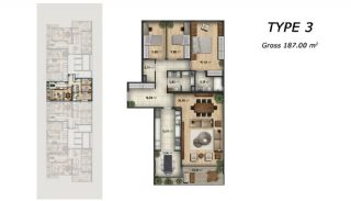 Central Apartments Overlooking the Sea in Istanbul, Property Plans-2