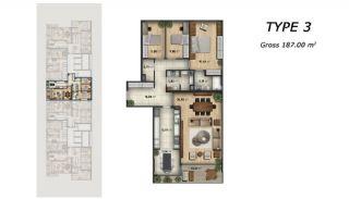 Квартиры в Стамбуле с Великолепным Видом на Море, Планировка -2
