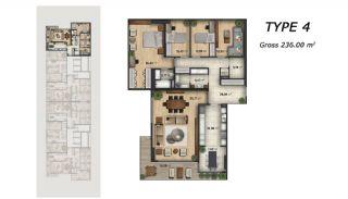 Centrala Lägenheter med Utsikt Över Havet i Istanbul, Planritningar-3