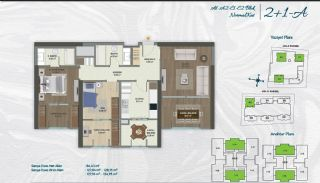 Family Apartments with Environmentalist Features in Istanbul, Property Plans-1