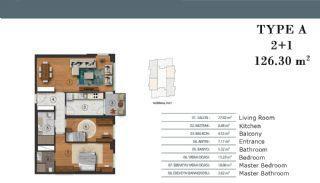 Luxury Apartments in Istanbul with Separate Kitchen, Property Plans-1