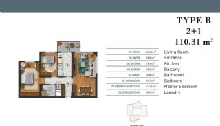 Luxury Apartments in Istanbul with Separate Kitchen, Property Plans-2