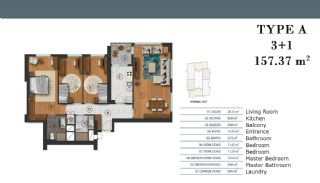 Luxury Apartments in Istanbul with Separate Kitchen, Property Plans-3