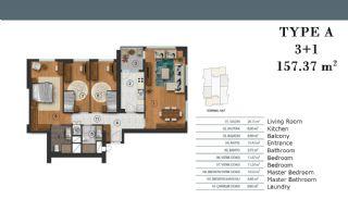 Luxe Appartementen in Istanbul met Aparte Keuken, Vloer Plannen-3