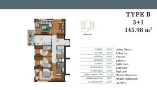 Luxury Apartments in Istanbul with Separate Kitchen, Property Plans-4