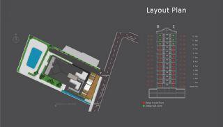 Centraal Gelegen Appartementen in Istanbul met Zeezicht, Vloer Plannen-1