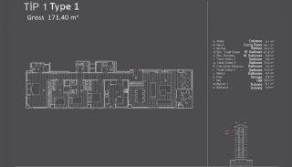Centraal Gelegen Appartementen in Istanbul met Zeezicht, Vloer Plannen-2