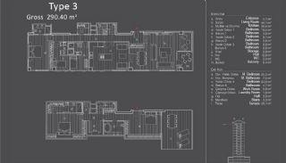 Centraal Gelegen Appartementen in Istanbul met Zeezicht, Vloer Plannen-4