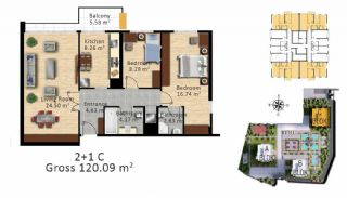 Luxury Istanbul Apartments Close the Highways in Bagcilar, Property Plans-2