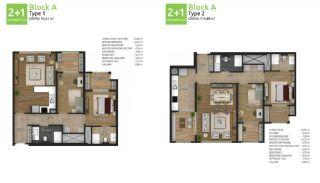 آپارتمان های جدید خانوادگی اورینتال در استانبول باشاکشهیر, پلان ملک-3