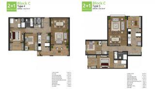 آپارتمان های جدید خانوادگی اورینتال در استانبول باشاکشهیر, پلان ملک-4