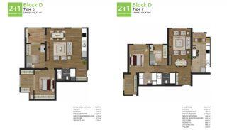آپارتمان های جدید خانوادگی اورینتال در استانبول باشاکشهیر, پلان ملک-5