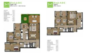آپارتمان های جدید خانوادگی اورینتال در استانبول باشاکشهیر, پلان ملک-6
