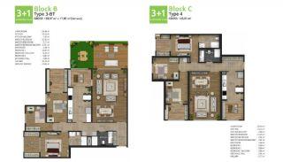 آپارتمان های جدید خانوادگی اورینتال در استانبول باشاکشهیر, پلان ملک-7