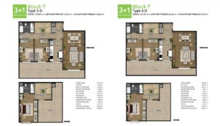 Family Oriented New Flats in Istanbul Basaksehir, Property Plans-8