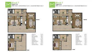 آپارتمان های جدید خانوادگی اورینتال در استانبول باشاکشهیر, پلان ملک-8
