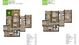 آپارتمان های جدید خانوادگی اورینتال در استانبول باشاکشهیر, پلان ملک-9