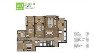 آپارتمان های جدید خانوادگی اورینتال در استانبول باشاکشهیر, پلان ملک-10