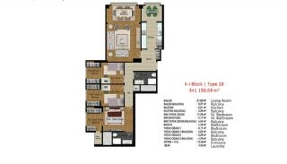 Quality Apartments in Turkey Istanbul near TEM Highway, Property Plans-3