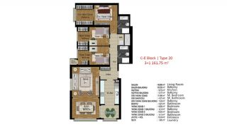 Quality Apartments in Turkey Istanbul near TEM Highway, Property Plans-8