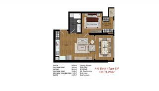 Quality Apartments in Turkey Istanbul near TEM Highway, Property Plans-15