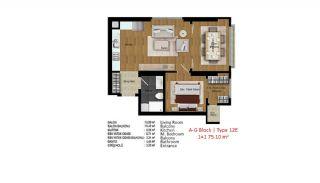 آپارتمان با کیفیت در ترکیه استانبول در نزدیکی بزرگراه تی ای ام, پلان ملک-16