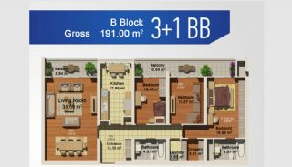 Ready Apartments with Sea View in Istanbul Avcilar, Property Plans-8