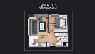 Contemporary Apartments Designed as Home Office in Istanbul, Property Plans-1