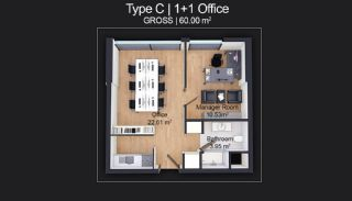 Contemporary Apartments Designed as Home Office in Istanbul, Property Plans-3