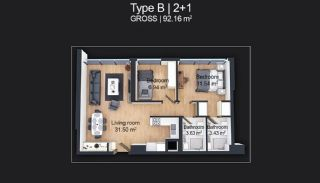 Contemporary Apartments Designed as Home Office in Istanbul, Property Plans-4