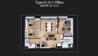 Contemporary Apartments Designed as Home Office in Istanbul, Property Plans-5