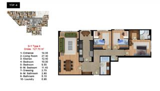 Investment Flats Close to the Sea in Zeytinburnu Istanbul, Property Plans-4